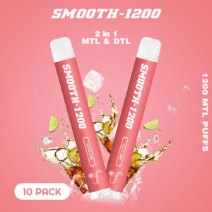 Smooth-1200 – (Cola Lime – 2 in 1 MTL & DTL 1200 MTL Puffs – Pack in 1 Piece)