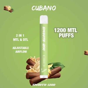 Smooth-1200 – (Cubano – 2 in 1 MTL & DTL 1200 MTL Puffs – Pack in 1 Piece)